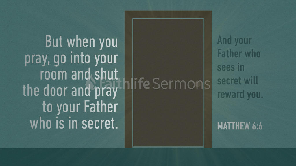 Matthew 6:6 large preview