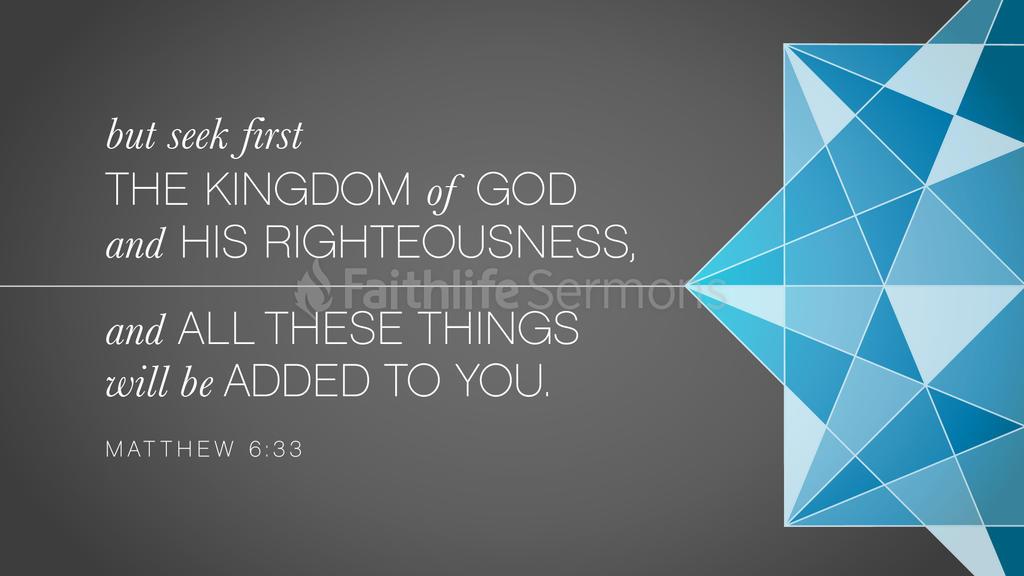 Matthew 6:33 large preview