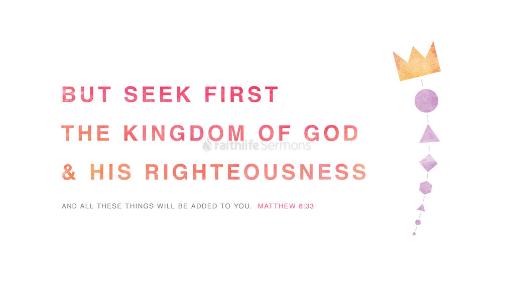 Matthew 6:33 large preview