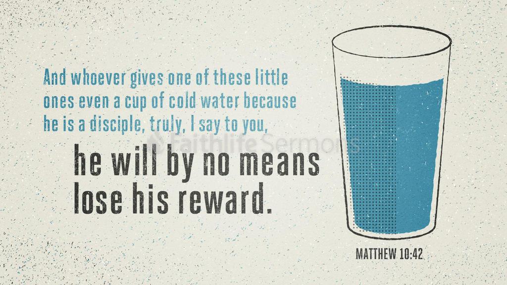 Matthew 10:42 large preview