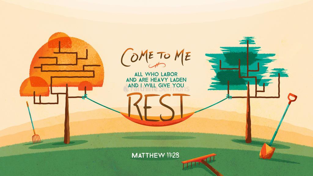 Matthew 11:28–30 large preview