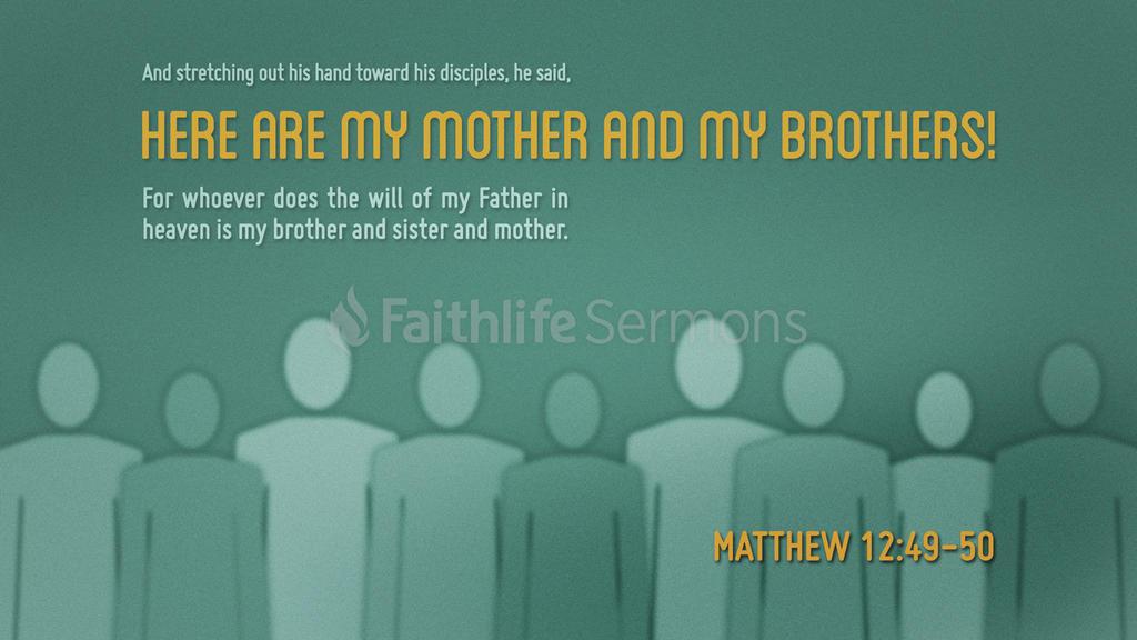 Matthew 12:49–50 large preview
