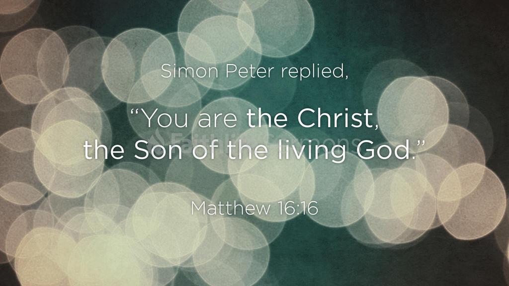 Matthew 16:16 large preview