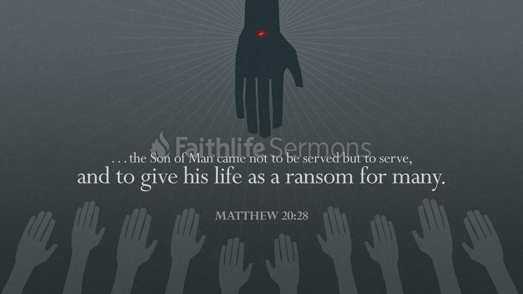 Matthew 20:28 large preview