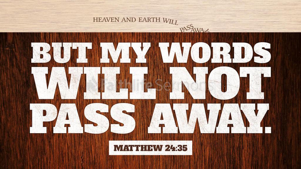 Matthew 24:35 large preview