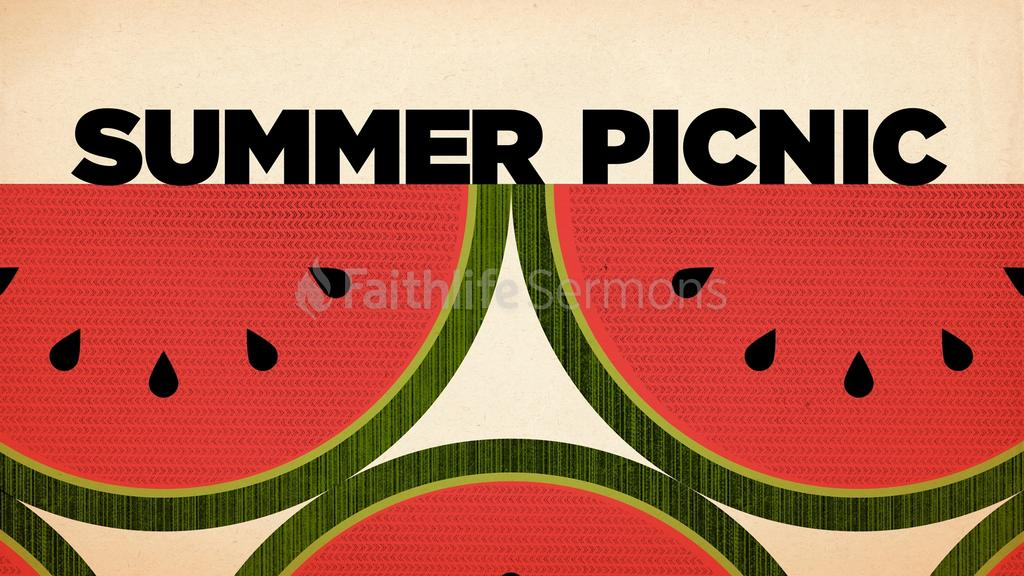 Textured Watermelon summer picnic preview