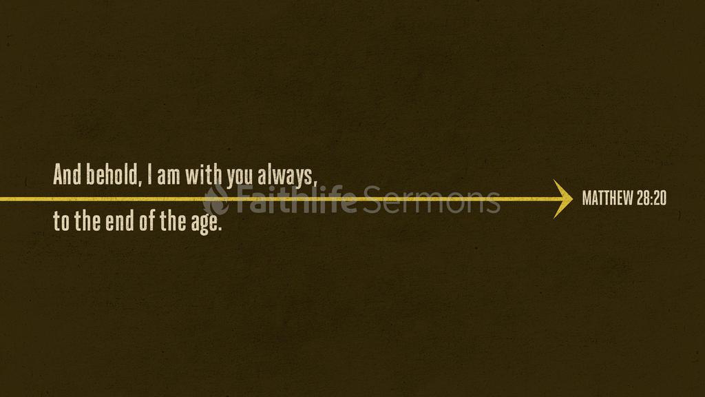 Matthew 28:20 large preview