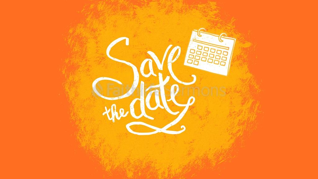 Orange Paint Mark save the date preview