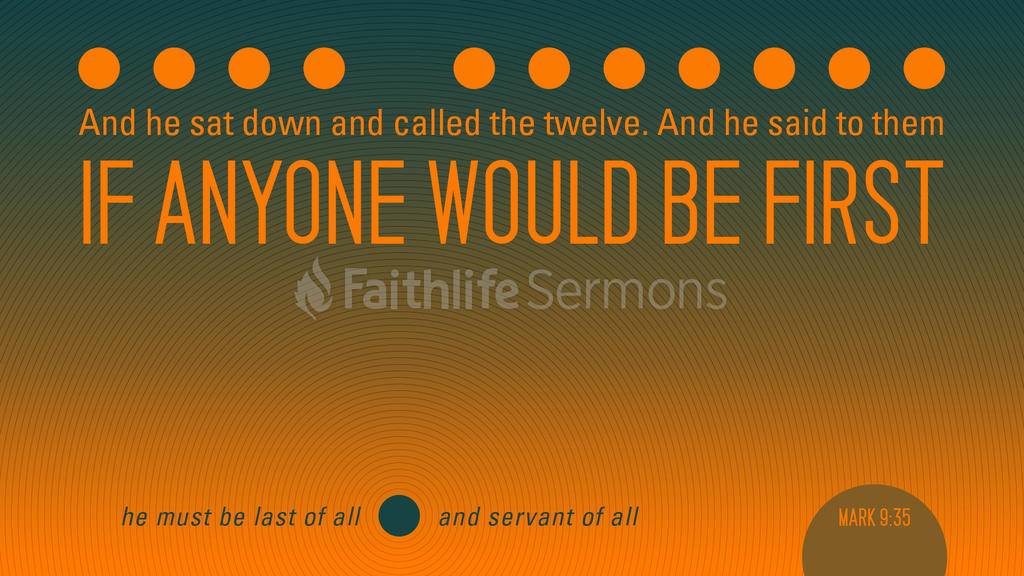 Mark 9:35 large preview