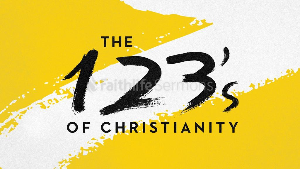 Yellow and White 123s of christianity preview