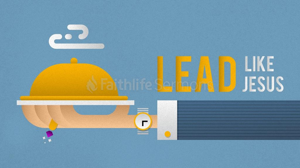 Blue Illustrated Service lead like jesus preview