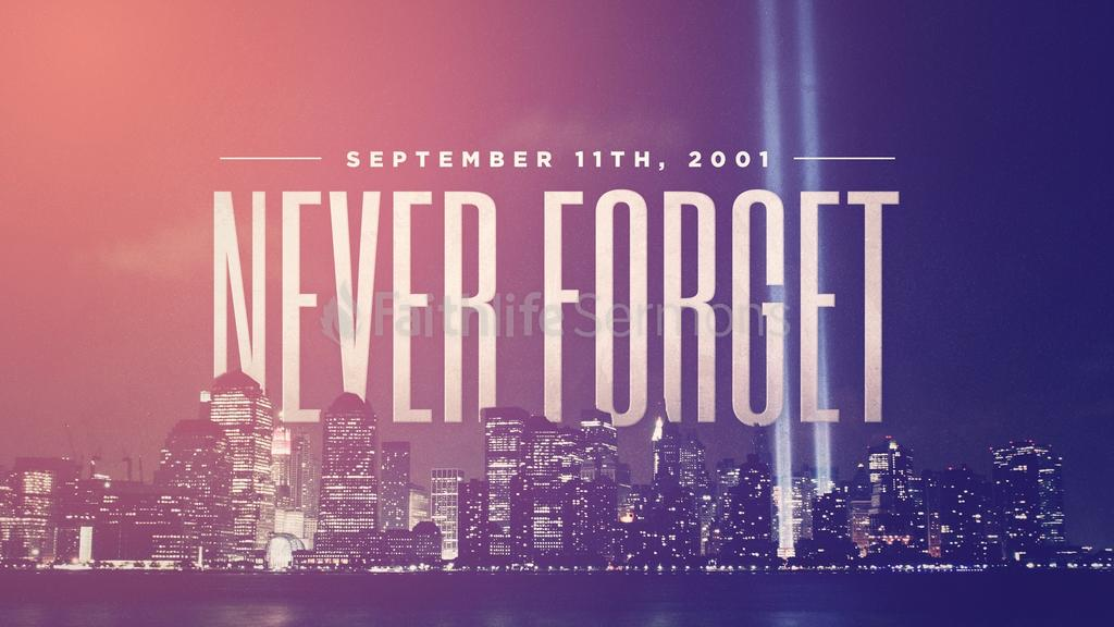 Retro Cityscape never forget september 11th preview