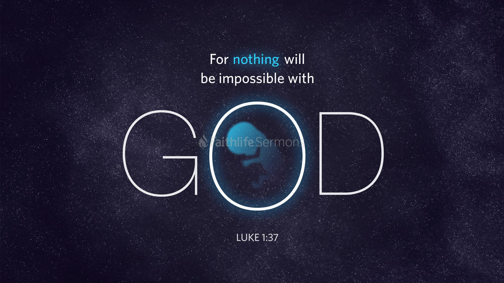 Luke 1:37 large preview