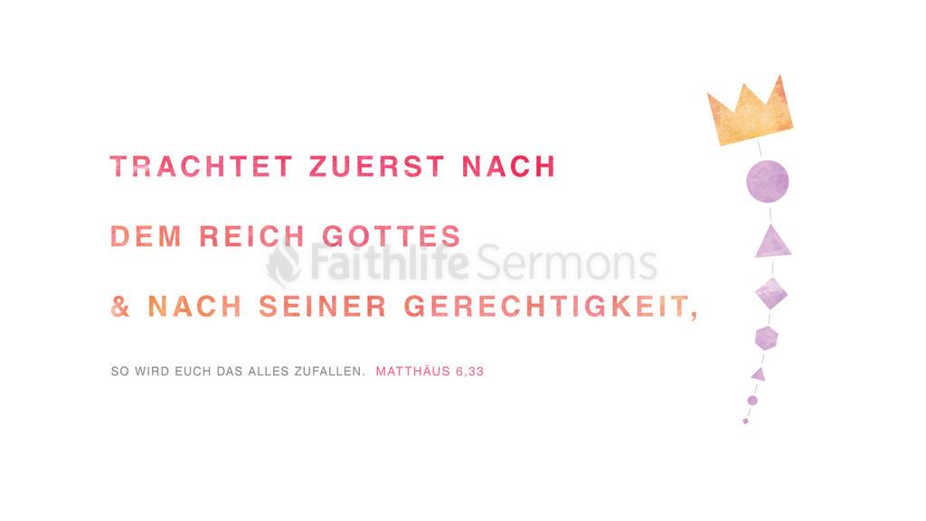 Matthäus 6,33 large preview