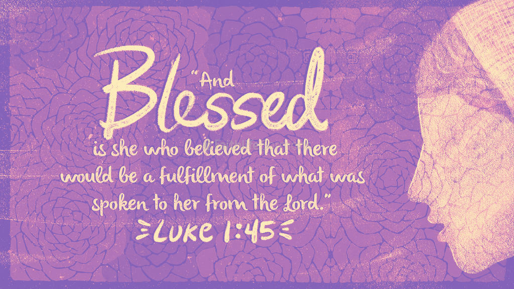 Luke 1:45 large preview
