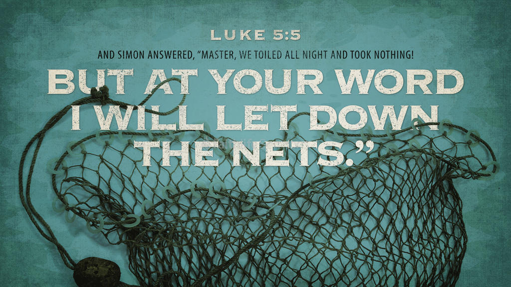 Luke 5:5 large preview