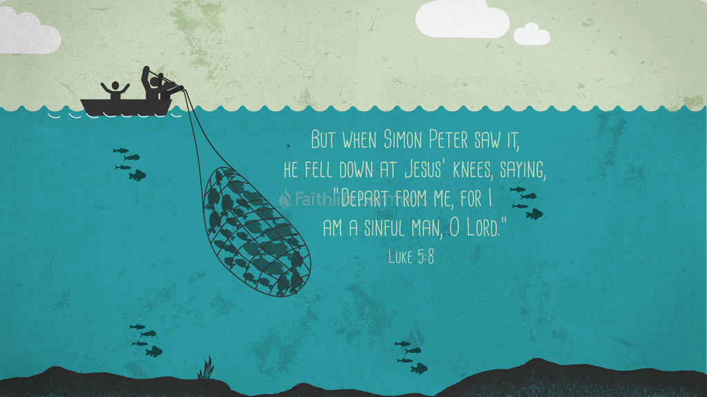 Luke 5:8 large preview