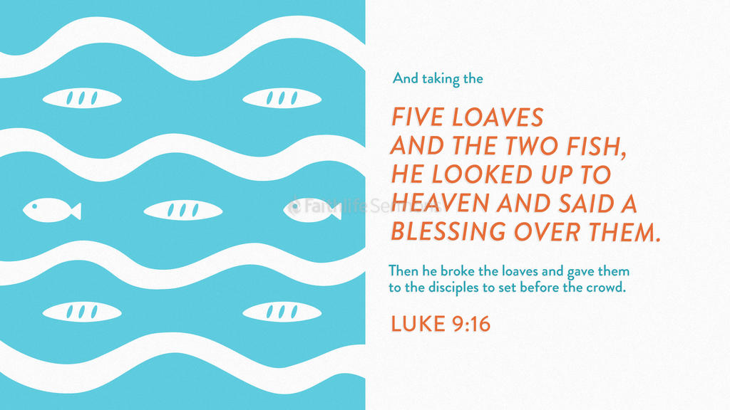 Luke 9:16 large preview