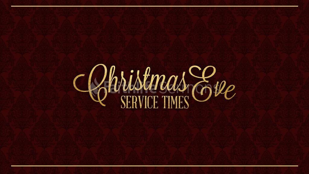 Christmas Eve Service Times content preview