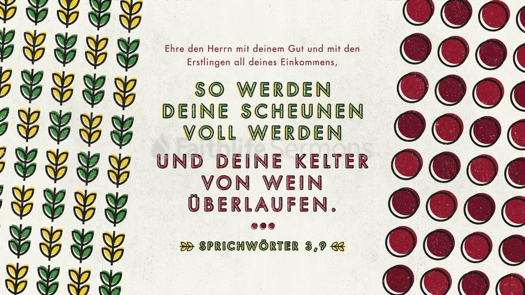 Sprüche 3,9–10 large preview
