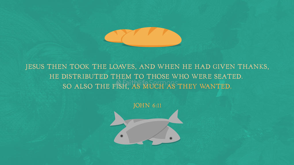 John 6:11 large preview