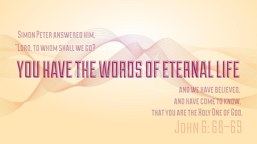 John 6:68–69 large preview