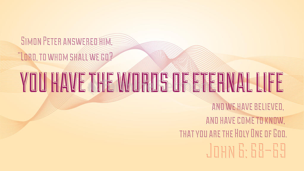 John 6:68–69 large preview