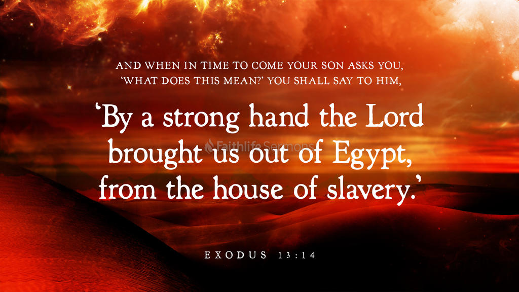 Exodus 13:14 large preview
