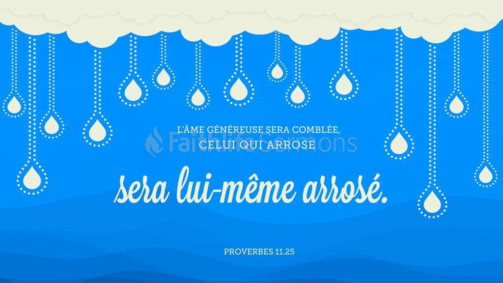 Proverbes 11.25 large preview