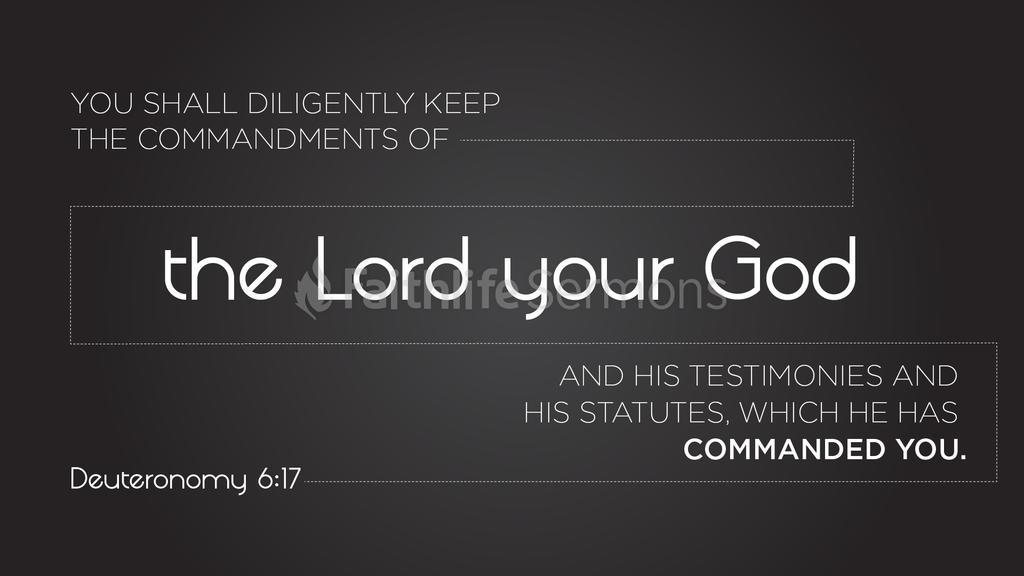 Deuteronomy 6:17 large preview