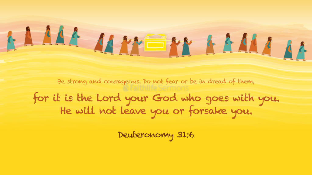 Deuteronomy 31:6 large preview