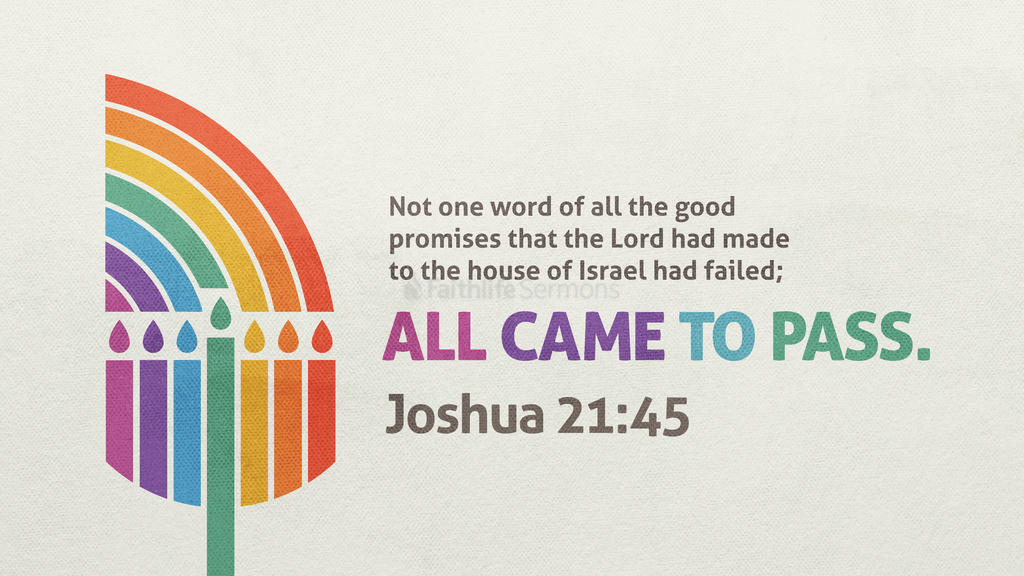 Joshua 21:45 large preview