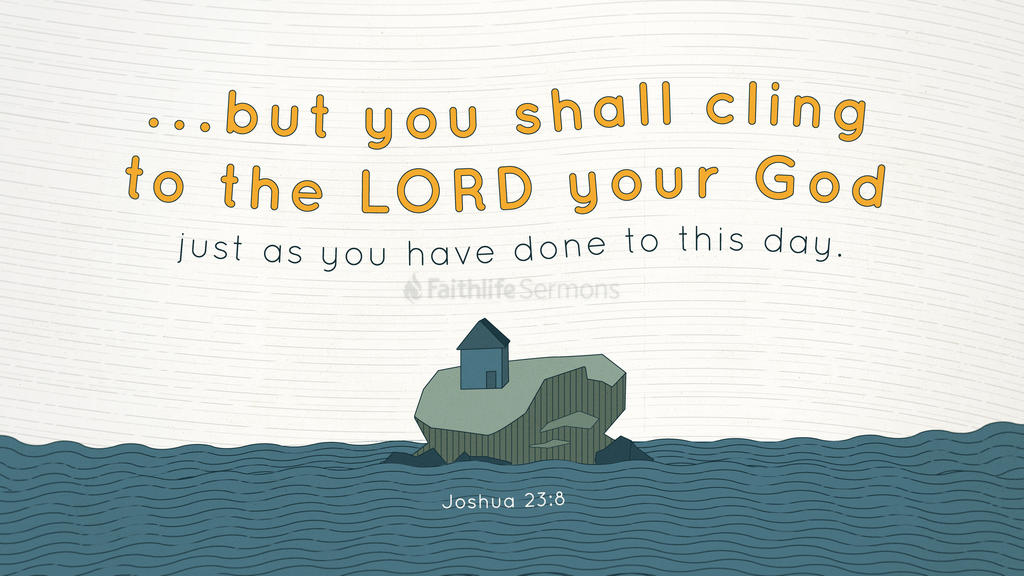 Joshua 23:8 large preview