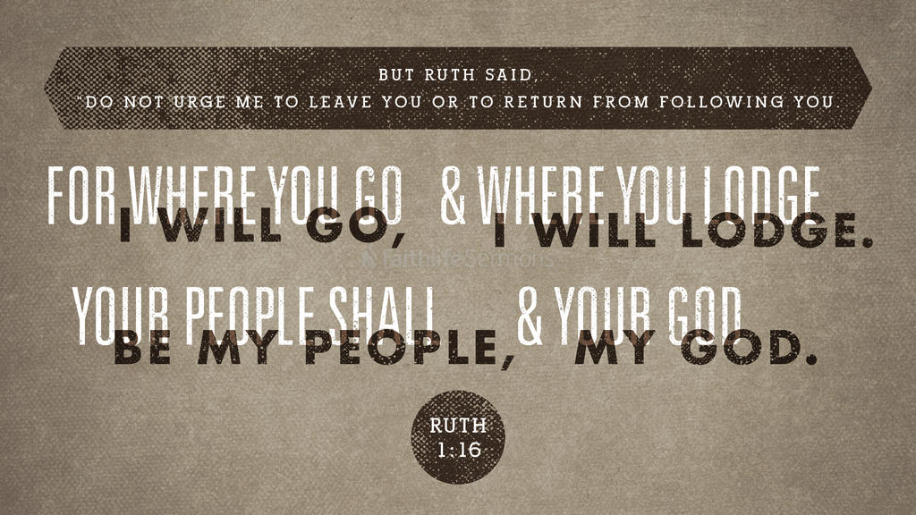 Ruth 1:16 large preview