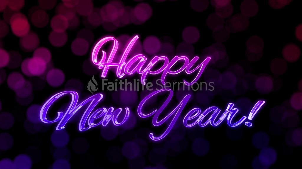 Festive Bokeh  Happy New Year 16x9 preview