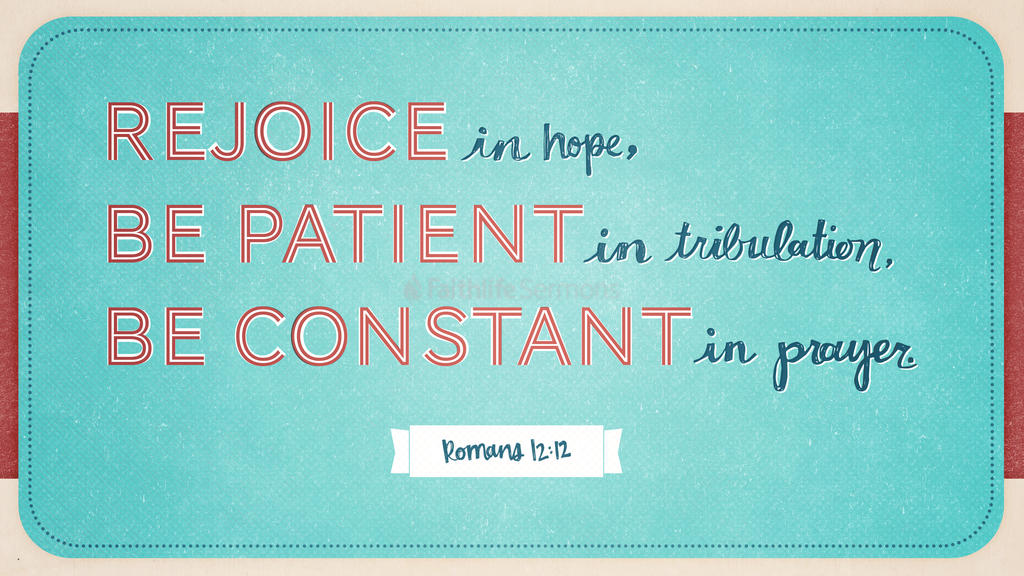 Romans 12:12 large preview