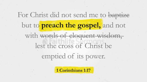 1 Corinthians 1:17