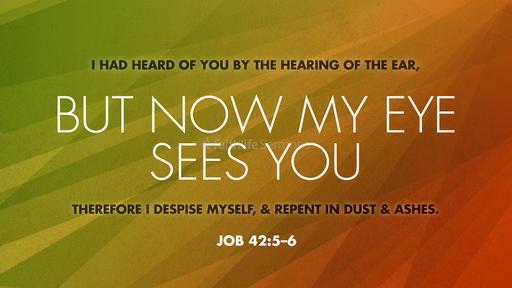 Job 42:5–6