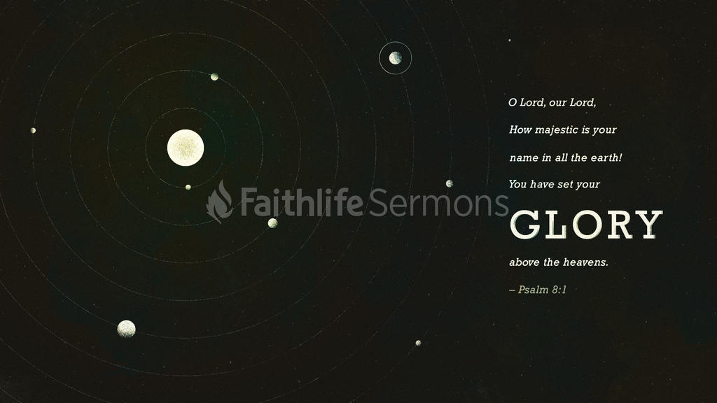 Psalm 8:1 large preview