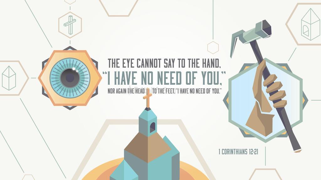 1 Corinthians 12:21 large preview