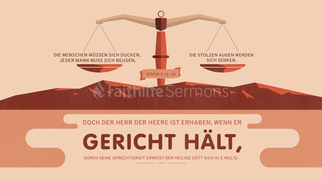 Jesaja 5,15–16 16x9 preview
