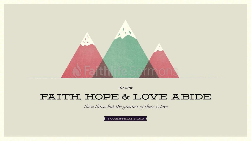 1 Corinthians 13:13 large preview