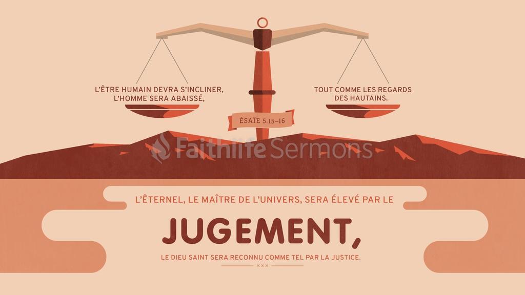 Ésaïe 5.15–16 large preview