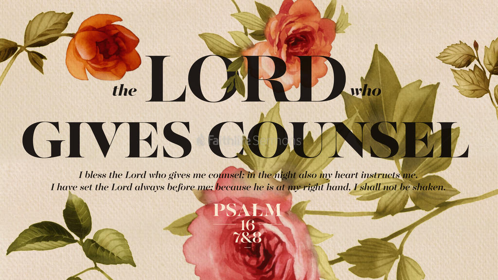 Psalm 16:7–8 large preview