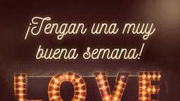 God Is Love ¡tengan una muy buena semana! 16x9 PowerPoint image