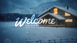 Winter Cabin welcome 16x9 PowerPoint Photoshop image
