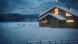 Winter Cabin sermon title 16x9 PowerPoint Photoshop image