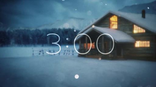 Winter Cabin - Countdown 3 min
