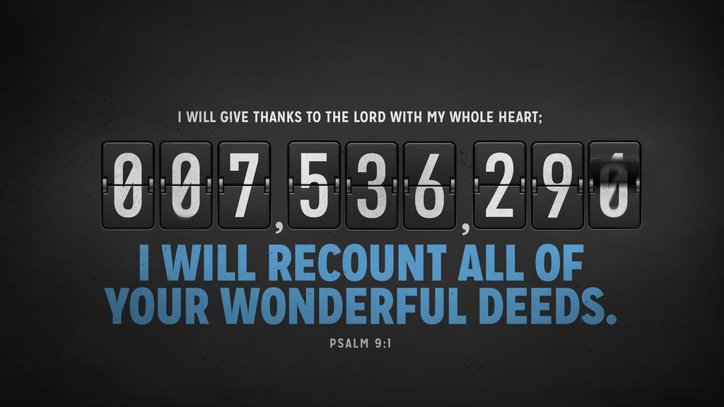 Psalm 9:1 large preview