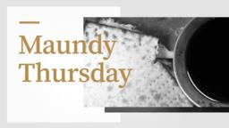 Maundy Thursday 16x9 PowerPoint Photoshop image